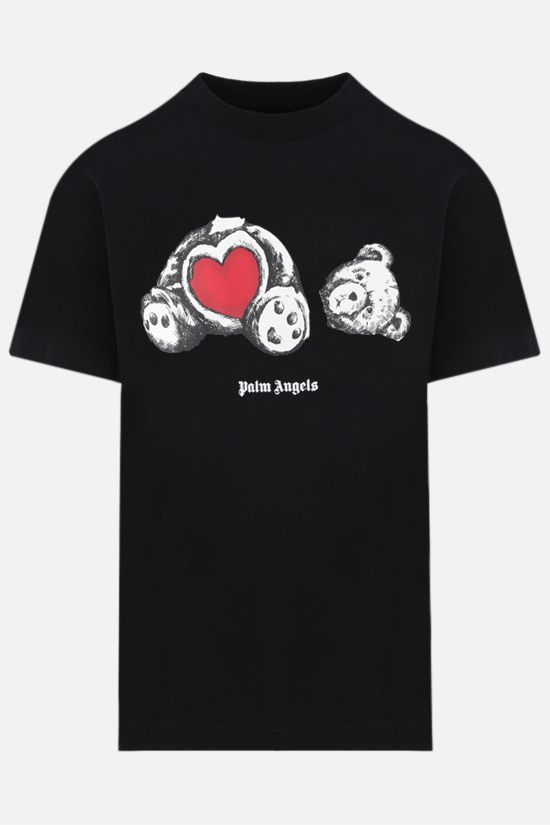 PALM ANGELS: t-shirt Bear In Love in cotone Colore Nero_1