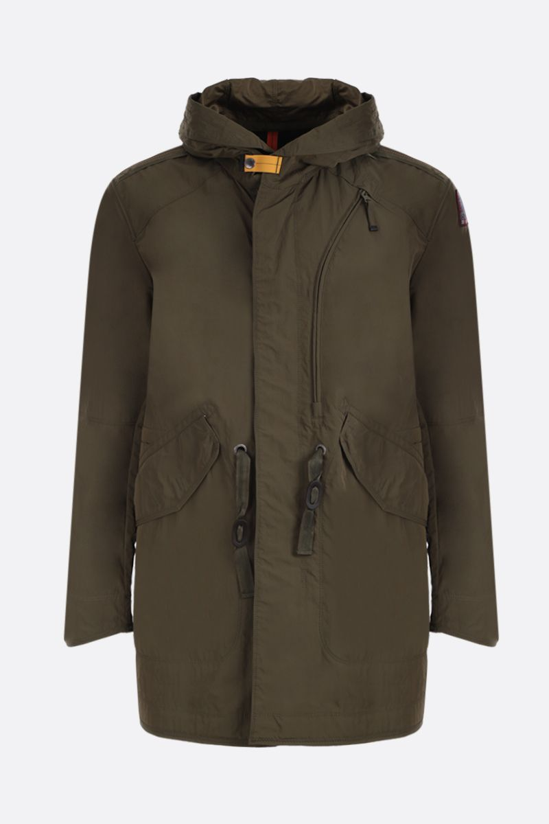 PARAJUMPERS: Tank Spring parka coat in technical poplin Color Green_1