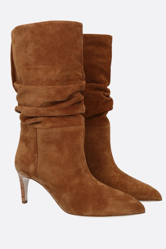 PARIS TEXAS: slouchy-effect suede boots Color Neutral_2