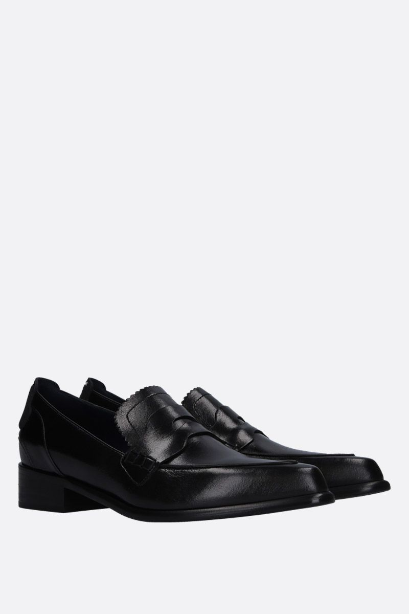 SPORTMAX: Solista loafers in shiny leather Color Black_3