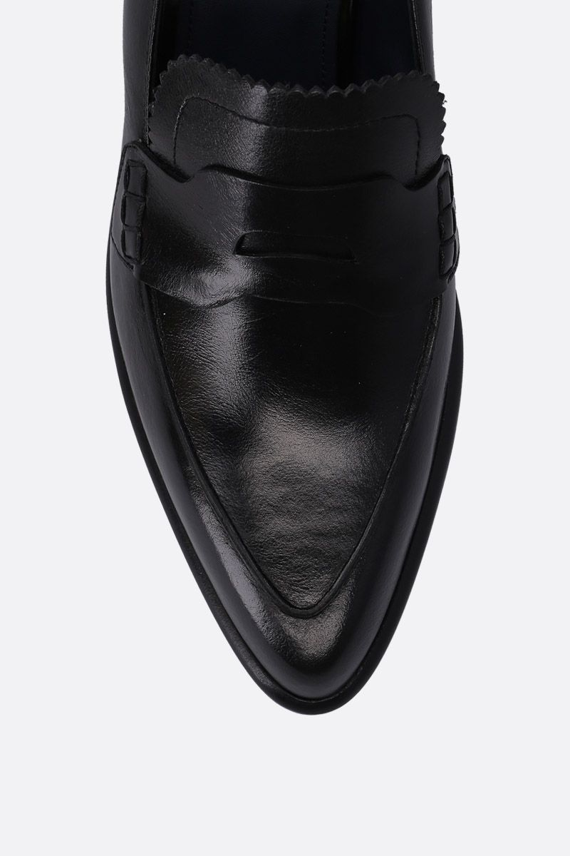 SPORTMAX: Solista loafers in shiny leather Color Black_5