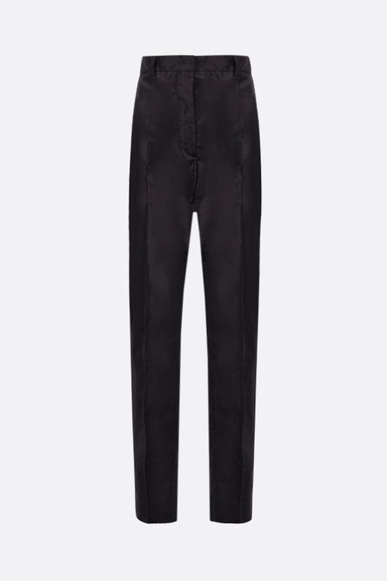 PRADA: straight-fit taffeta pants Color Black_1
