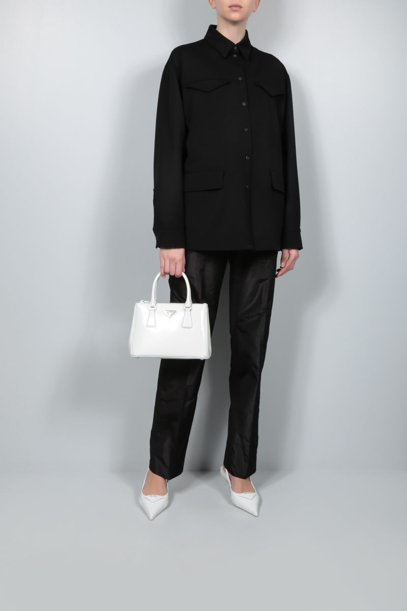 PRADA: straight-fit taffeta pants Color Black_2