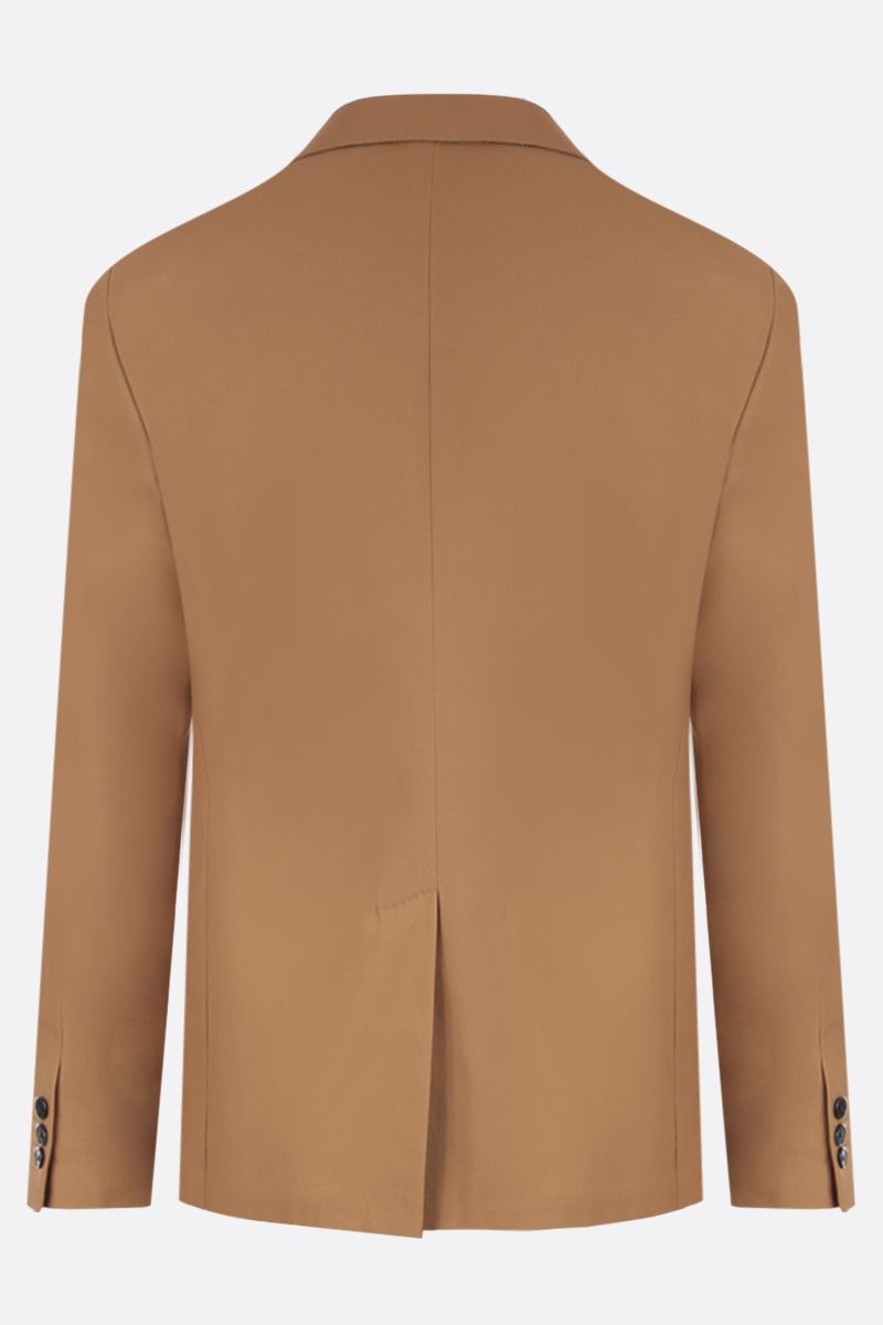 PRADA: lightweight cotton single-breasted jacket Color Brown_6
