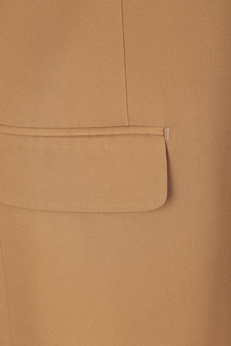PRADA: lightweight cotton single-breasted jacket Color Brown_7
