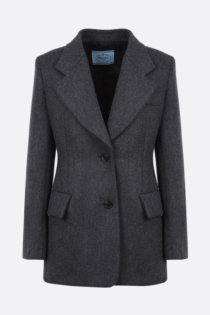 PRADA: wool single-breasted jacket Color Grey_1