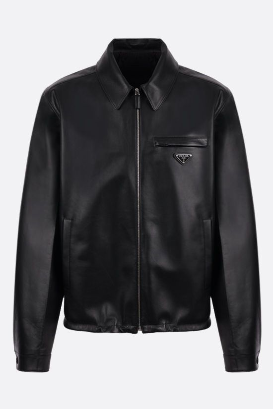 PRADA: nappa full-zip jacket Color Black_1