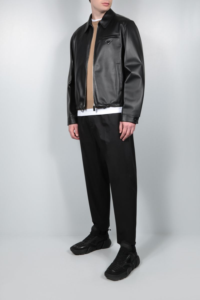 PRADA: nappa full-zip jacket Color Black_2