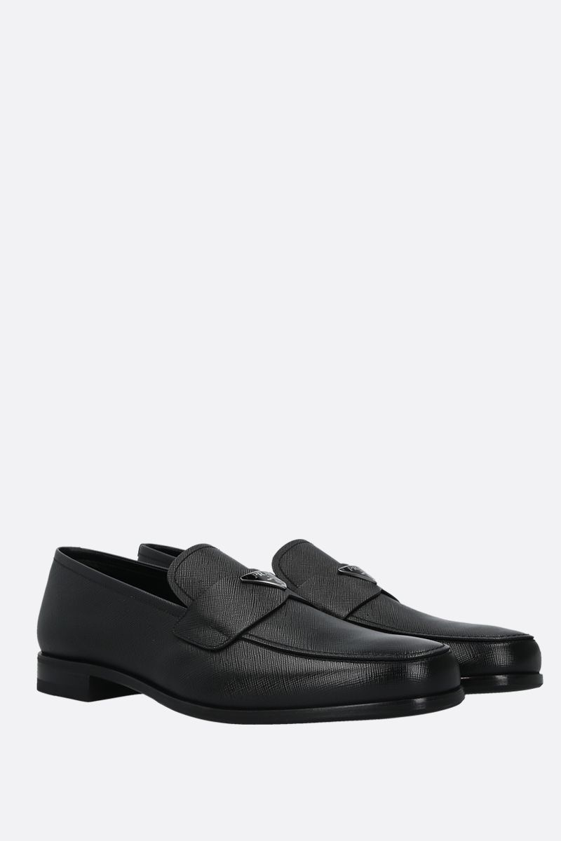 PRADA: Saffiano leather loafers Color Black_2