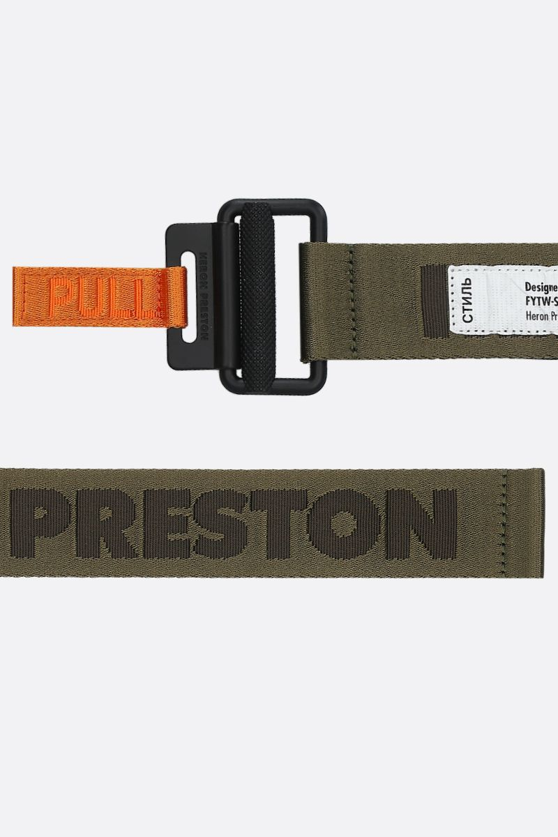 HERON PRESTON: heat logo tape belt Color Green_2