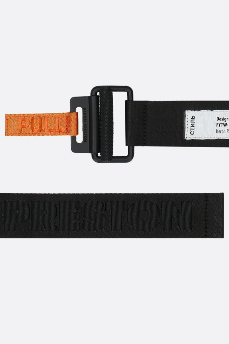 HERON PRESTON: heat logo tape belt Color Black_2