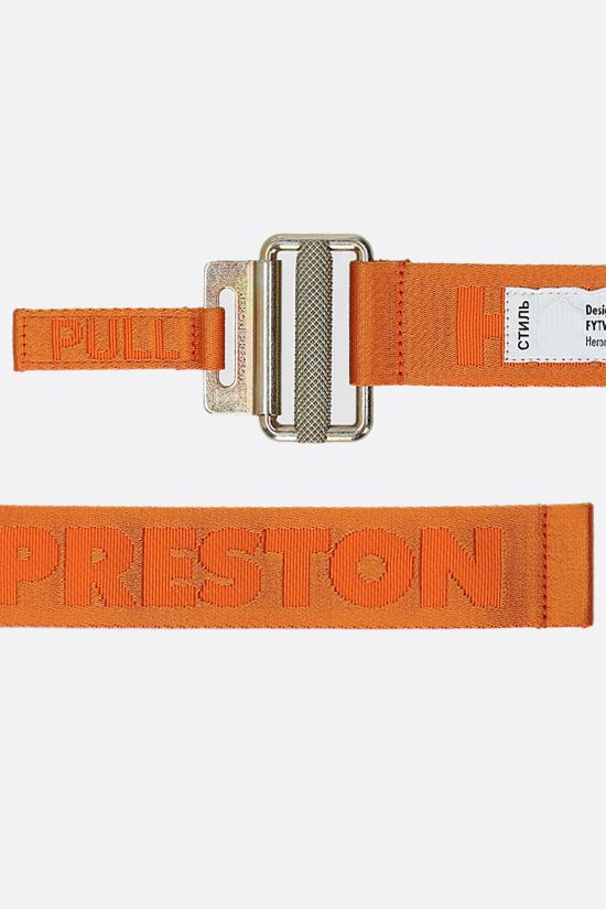 HERON PRESTON: Classic logoed fabric tape belt Color Orange_2