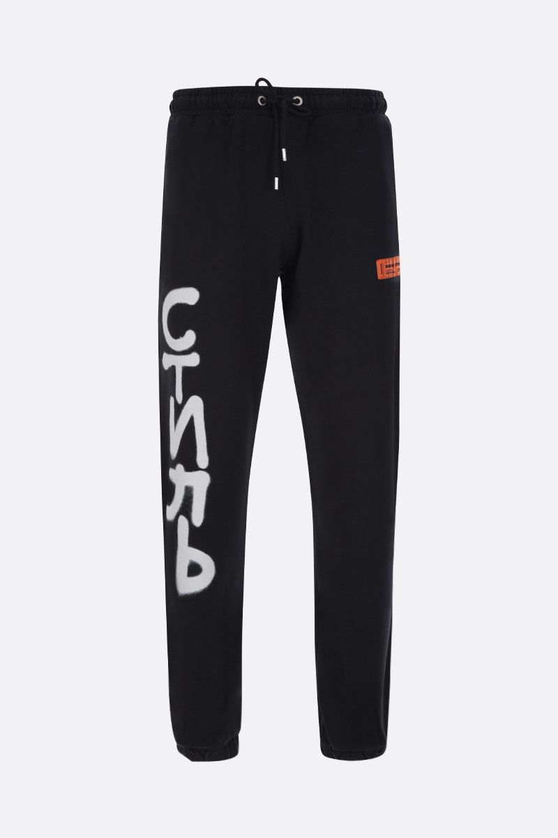 HERON PRESTON: CTNMB Spray cotton joggers Color Black_1