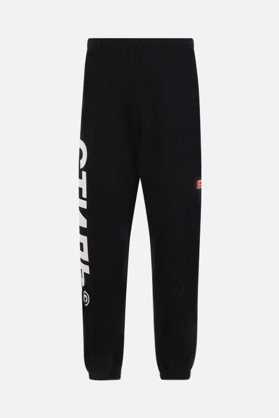 HERON PRESTON: pantalone jogging CTNMB in cotone stretch Colore Nero_1