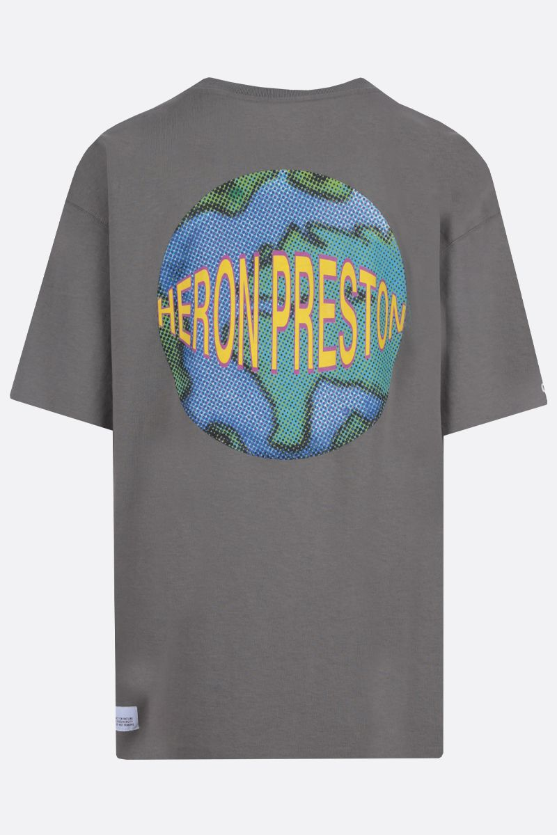 HERON PRESTON: Workwear print oversize cotton t-shirt Color Grey_2