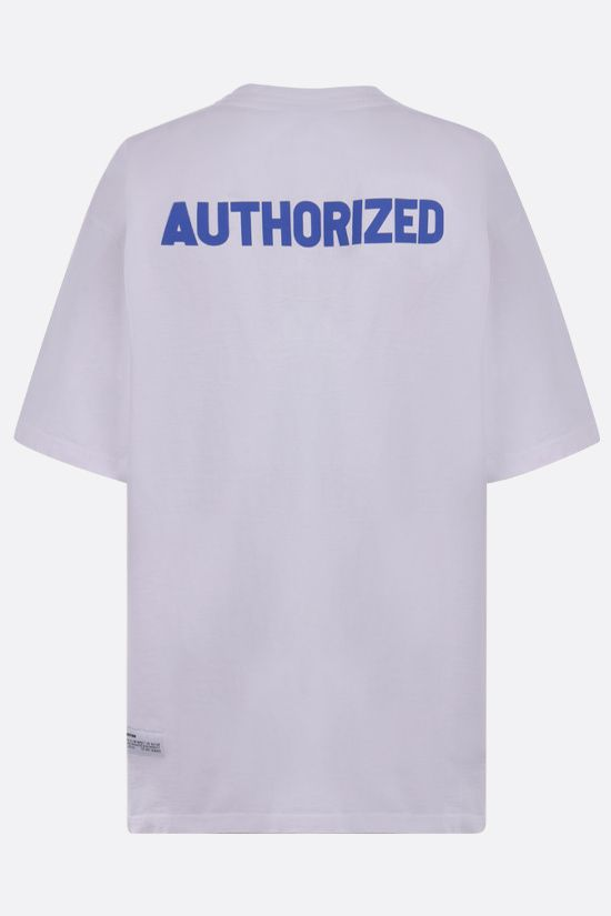 HERON PRESTON: A.F. oversize cotton t-shirt Color White_2