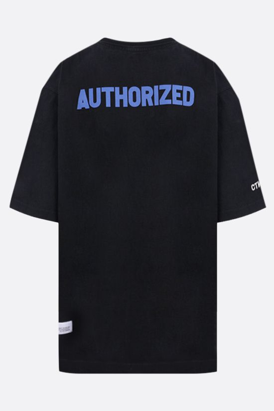 HERON PRESTON: A.F. oversize cotton t-shirt Color Black_2