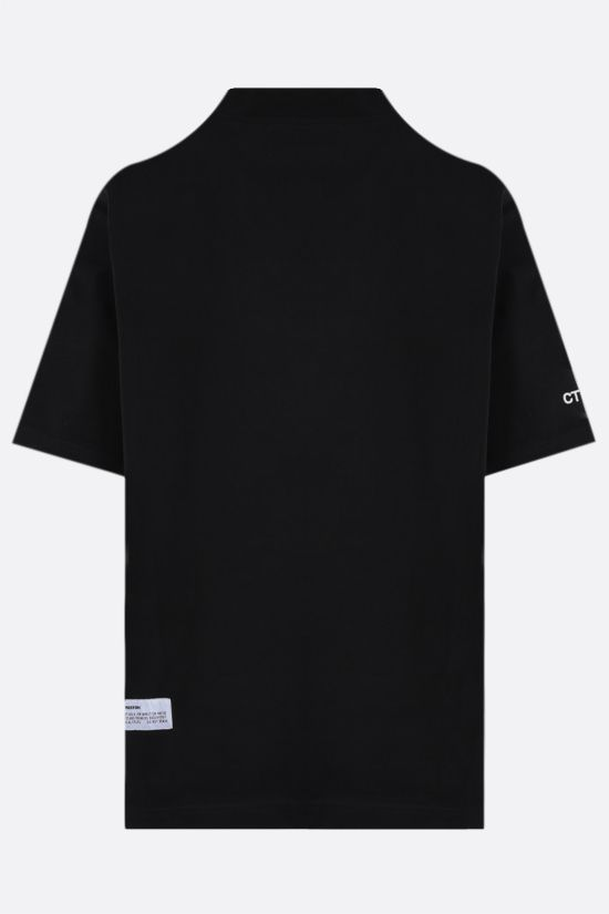 HERON PRESTON: oversize CTNMB embroidered cotton t-shirt Color Black_2