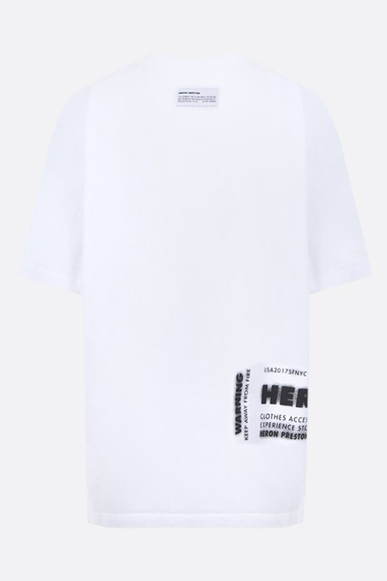 HERON PRESTON: HP x Caterpillar oversize cotton t-shirt Color White_2