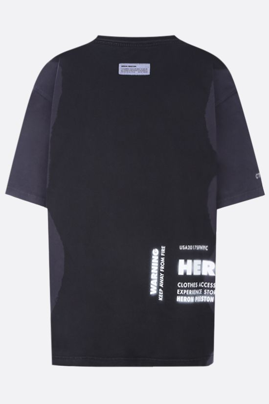 HERON PRESTON: HP x Caterpillar oversize cotton t-shirt Color Black_2