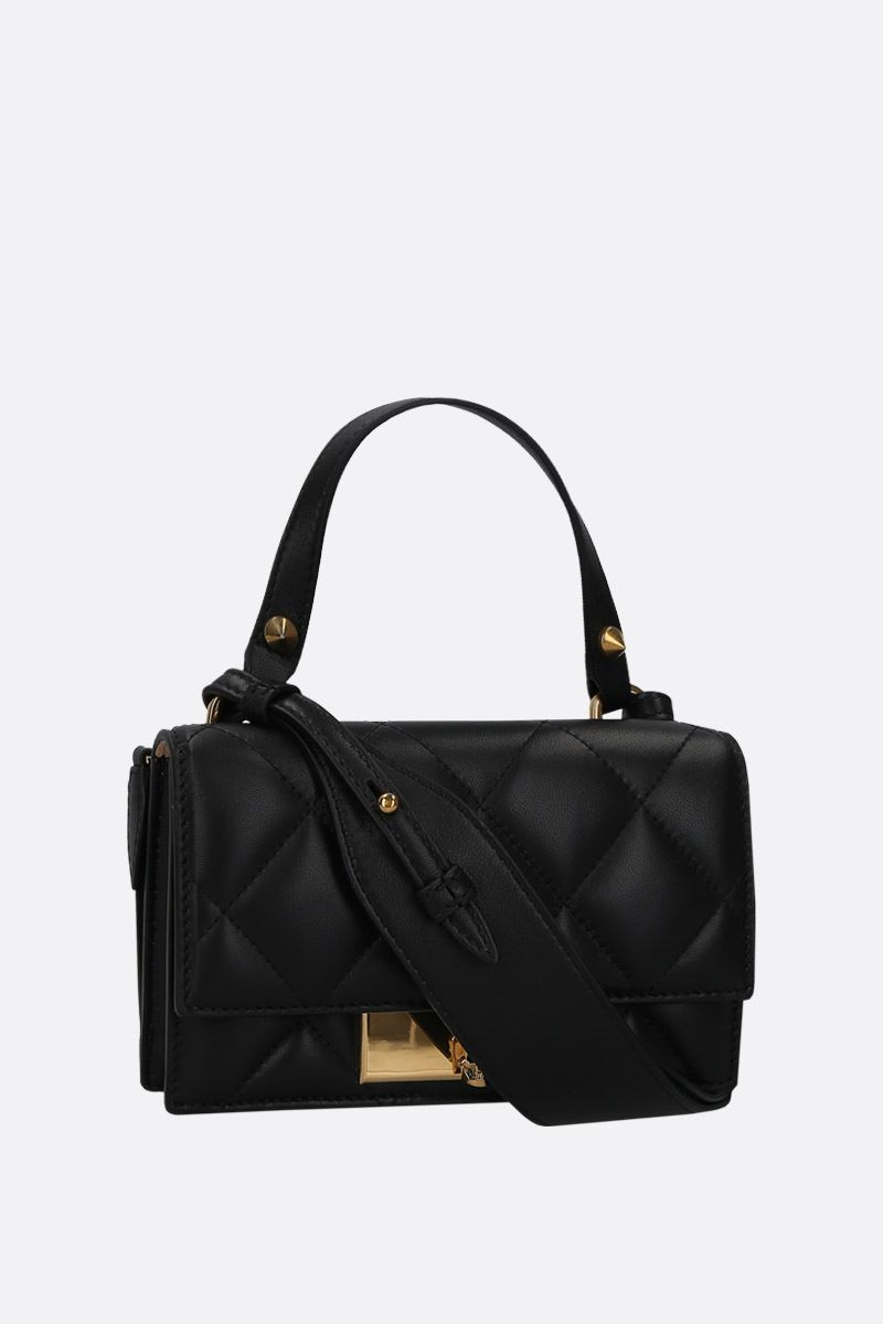 ALEXANDER McQUEEN: quilted nappa Skull-lock bag Color Black_2