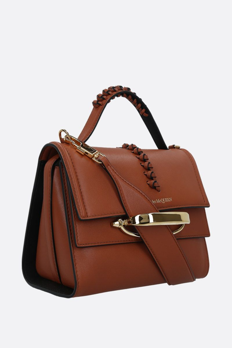 ALEXANDER McQUEEN: The Story shiny leather handbag_2