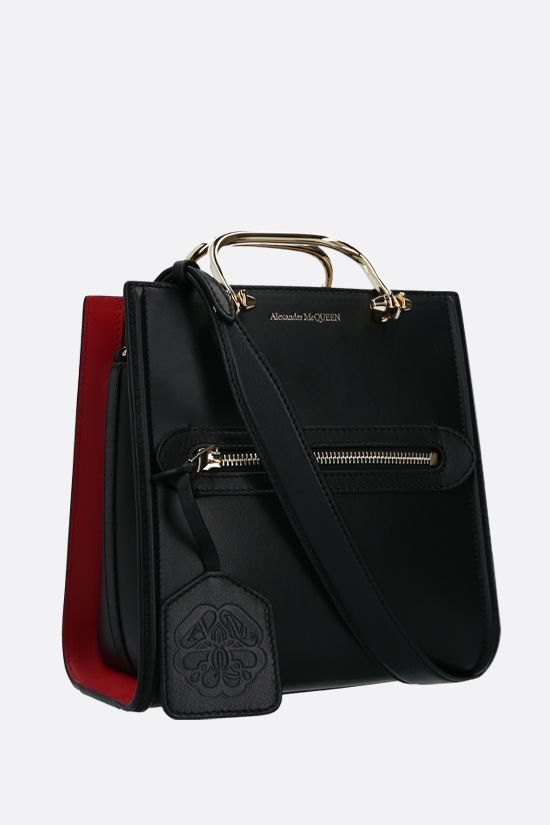 ALEXANDER McQUEEN: The Short Story smooth leather handbag Color Black_2