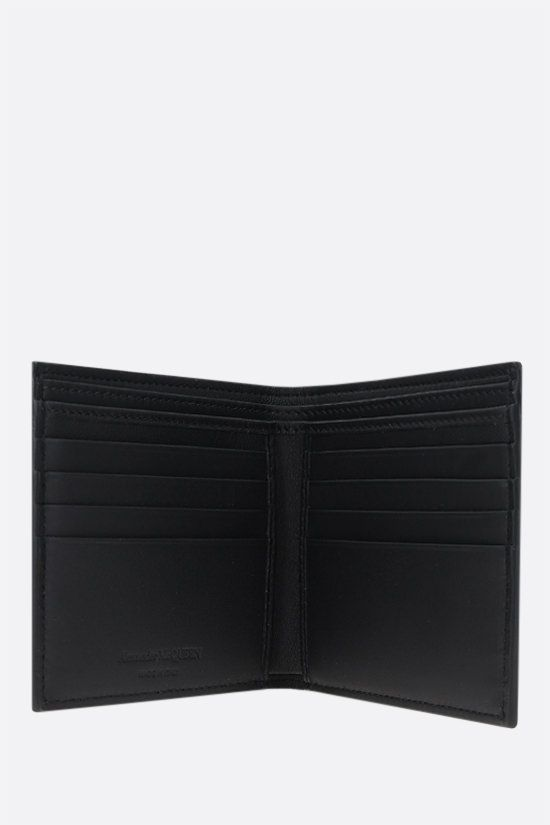 ALEXANDER McQUEEN: McQueen Graffiti smooth leather billfold wallet Color Black_2