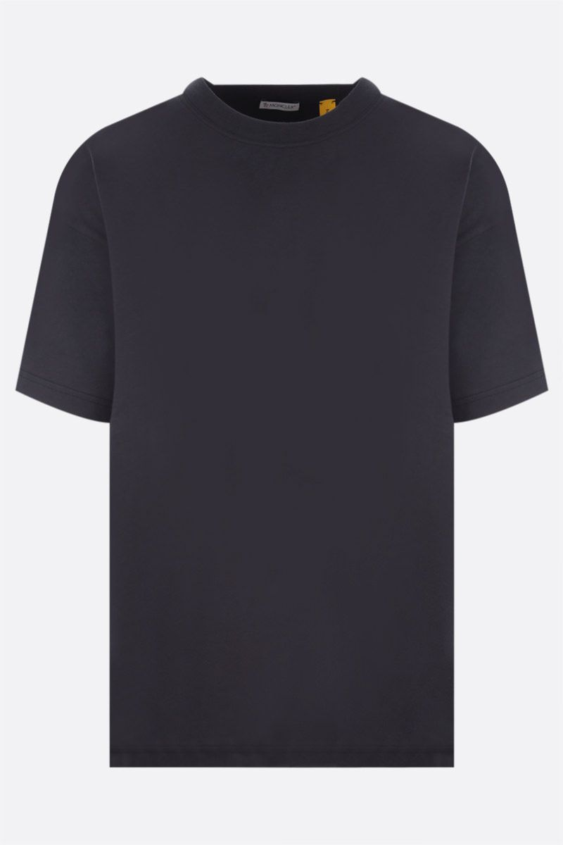 MONCLER GENIUS: t-shirt in cotone stampa logo Colore Blue_1