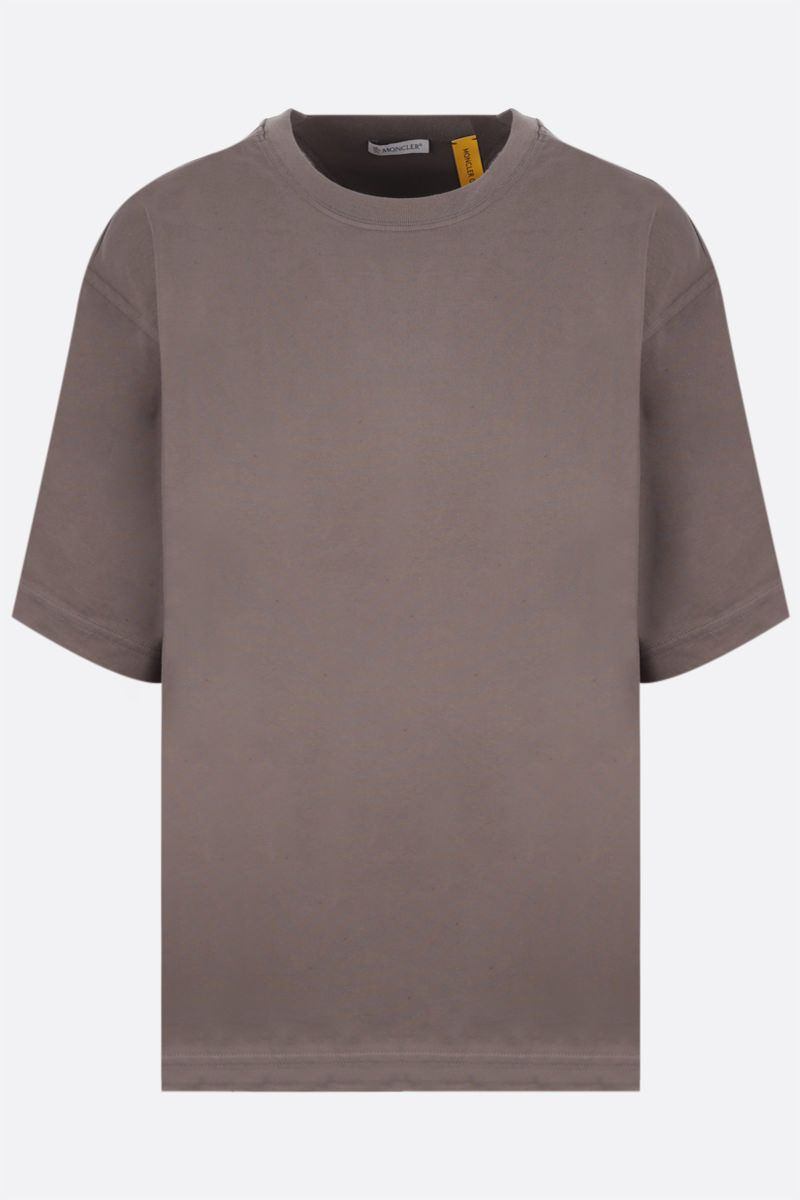 MONCLER GENIUS: t-shirt in cotone stampa logo Colore Brown_1