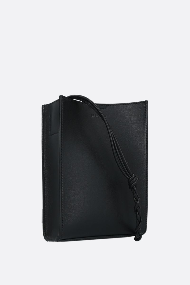 JIL SANDER: Tangle small smooth leather crossbody bag Color Black_2