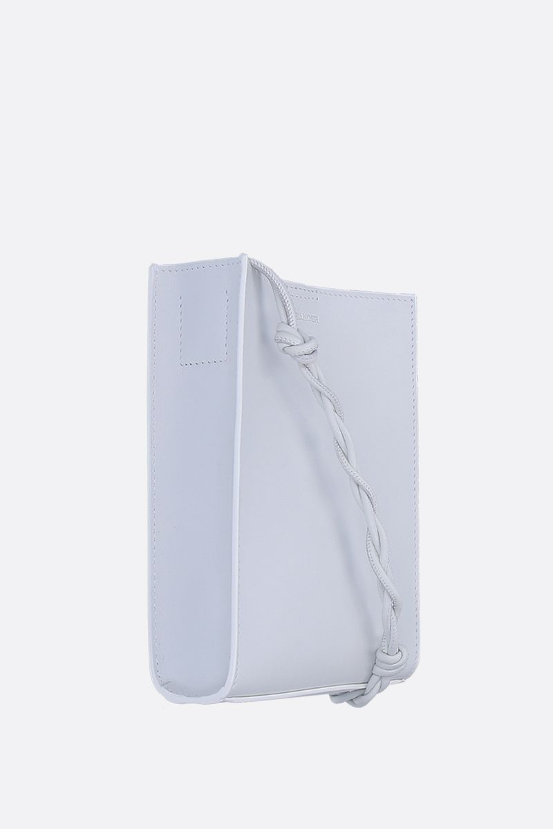 JIL SANDER: small Tangle shoulder bag in smooth leather Color White_2