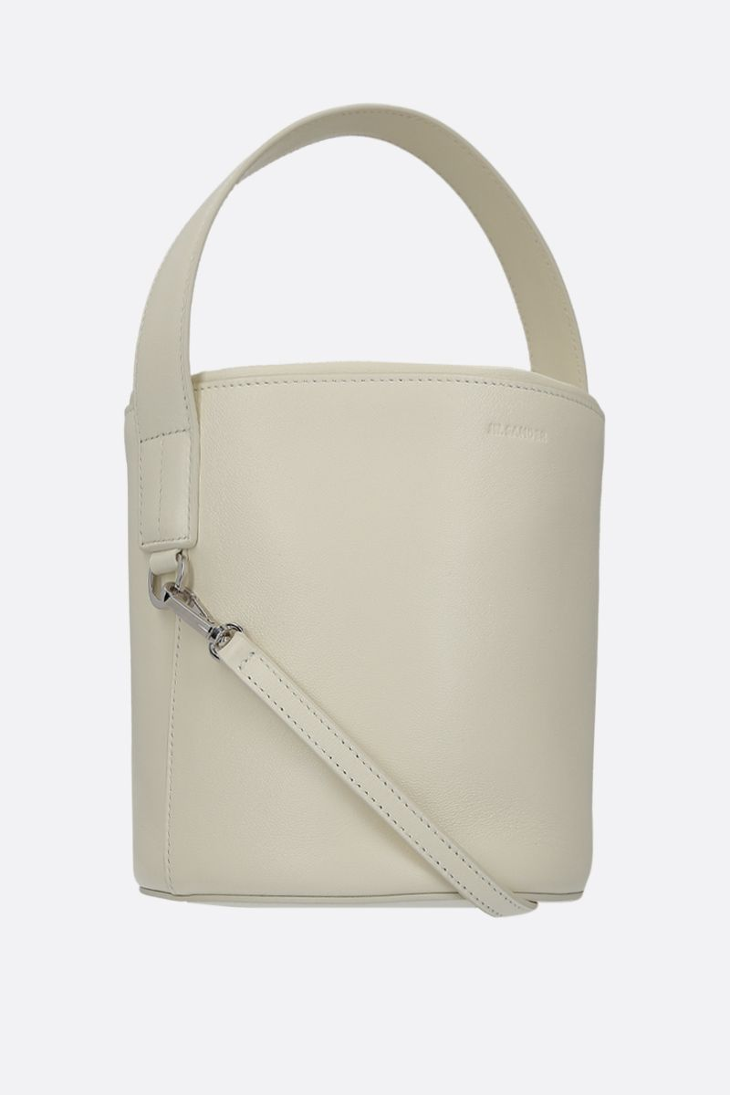 JIL SANDER: small bucket bag in nappa leather Color Neutral_2