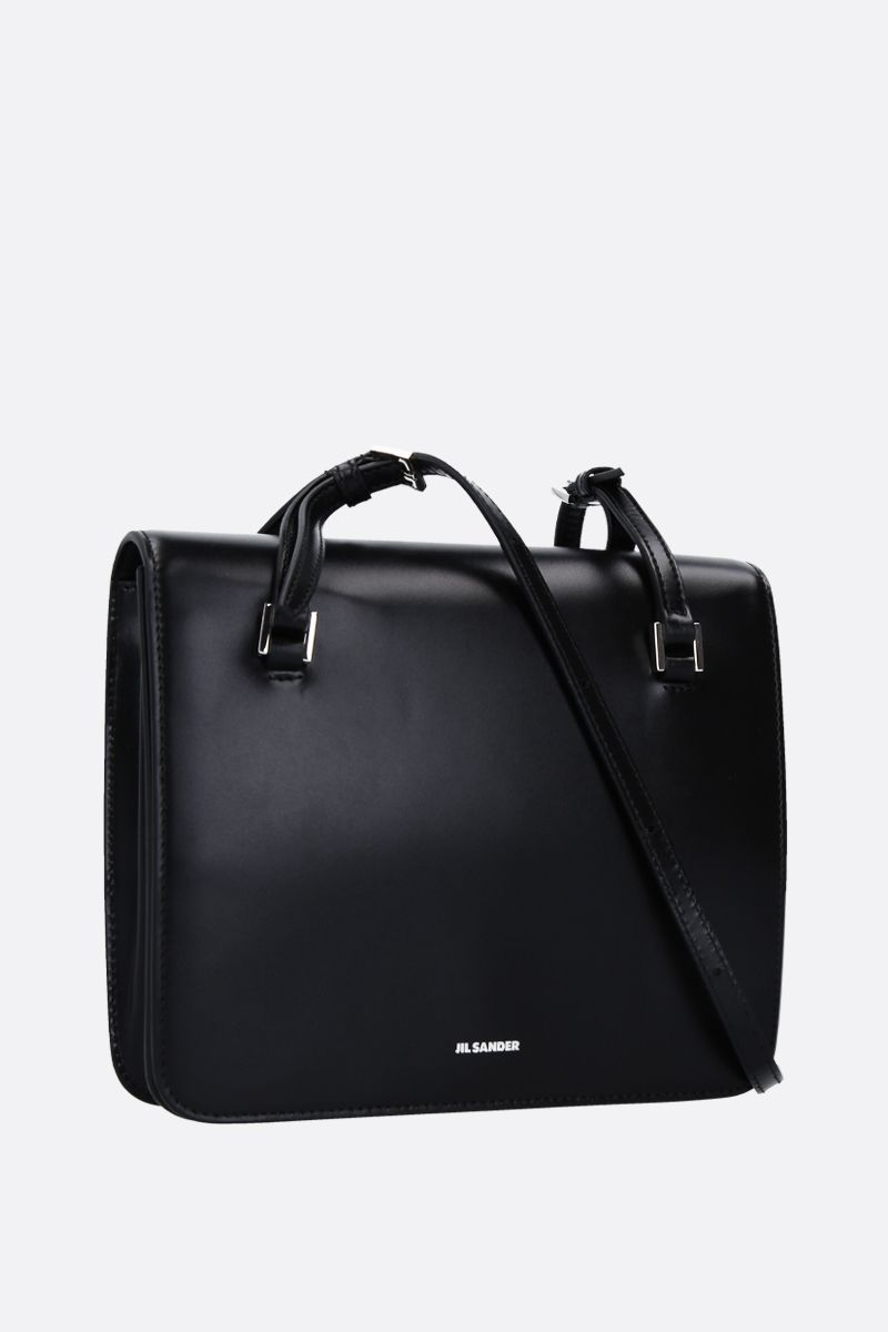 JIL SANDER: Holster small crossbody bag in smooth leather Color Black_2
