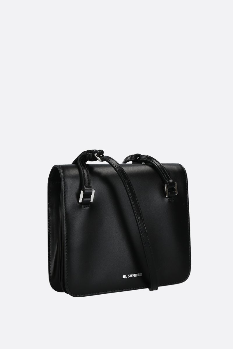JIL SANDER: Holster extra small crossbody bag in smooth leather Color Black_2