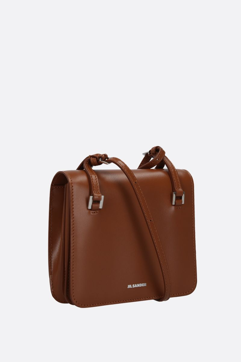 JIL SANDER: Holster extra small crossbody bag in smooth leather Color Brown_2