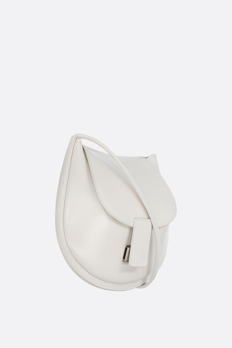 JIL SANDER: Crescent small smooth leather crossbody bag Color White_2