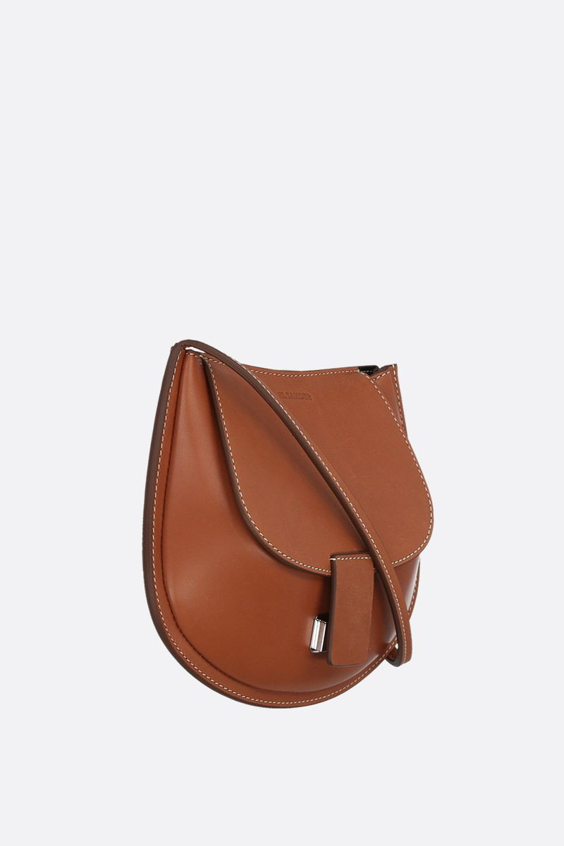 JIL SANDER: Crescent small smooth leather crossbody bag_2