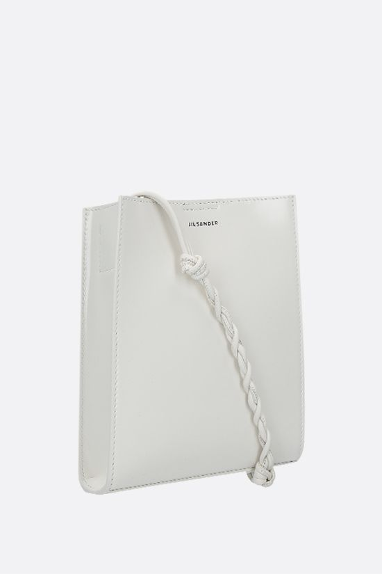 JIL SANDER: Tangle small shiny leather shoulder bag Color White_2