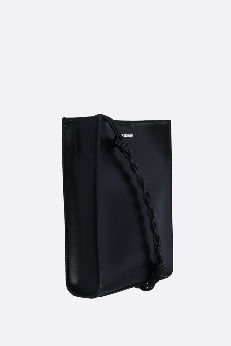 JIL SANDER: Tangle small smooth leather shoulder bag Color Black_2
