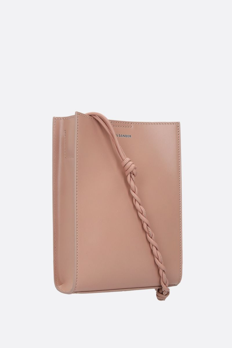 JIL SANDER: Tangle small smooth leather shoulder bag Color Pink_2