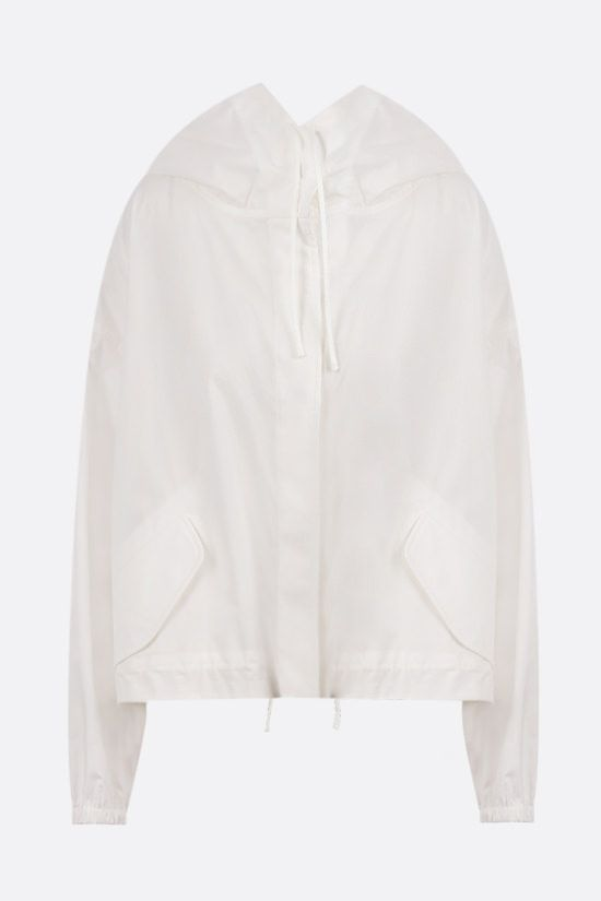 JIL SANDER: Essential Outdoor 3 oversize cotton jacket Color White_1