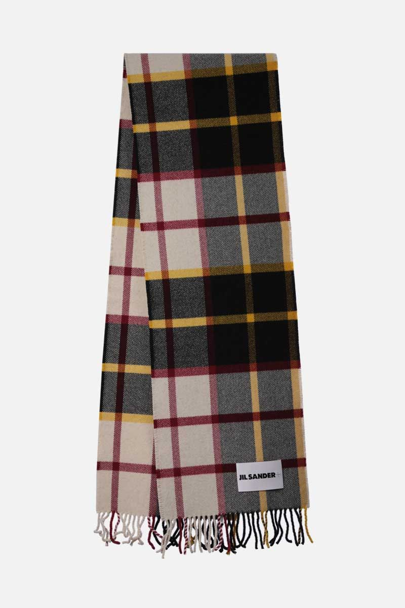 JIL SANDER: check wool blend scarf Color Multicolor_2