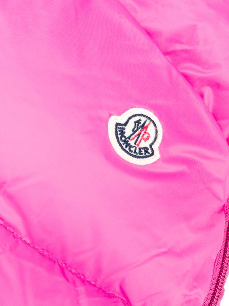 MONCLER KIDS: padded nylon sleeping bag Color Pink_2