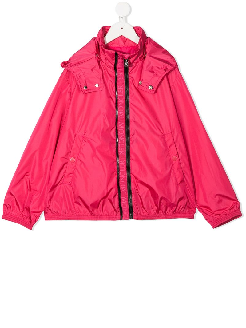 MONCLER KIDS: Zanice nylon windbreaker Color Red_1
