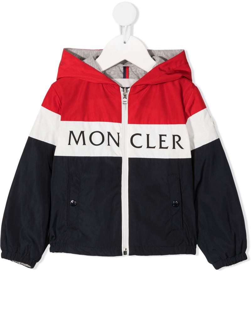 MONCLER KIDS: Dard nylon full-zip jacket Color Blue_1