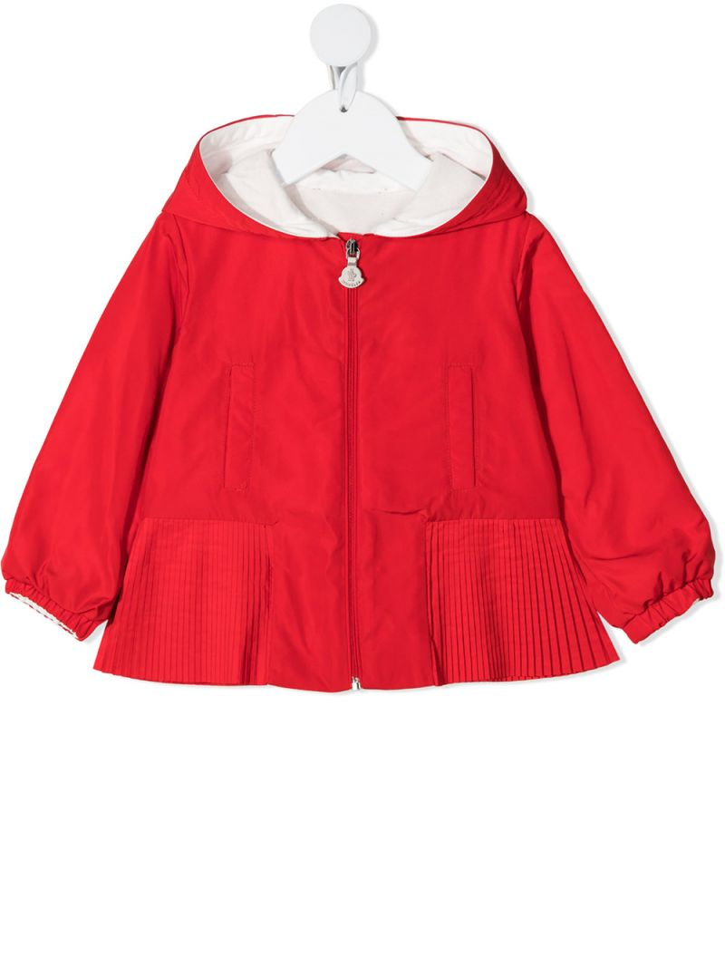 MONCLER KIDS: Eukodie nylon windbreaker Color Red_1