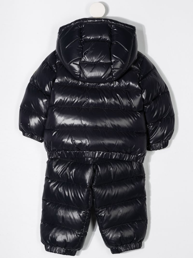 MONCLER KIDS: Layak two-piece snowsuit set in laquè nylon Color Blue_2