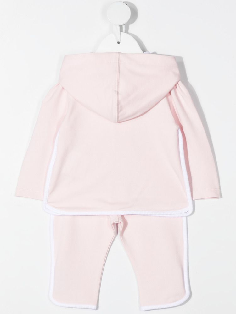 MONCLER KIDS: stretch cotton tracksuit Color Pink_2