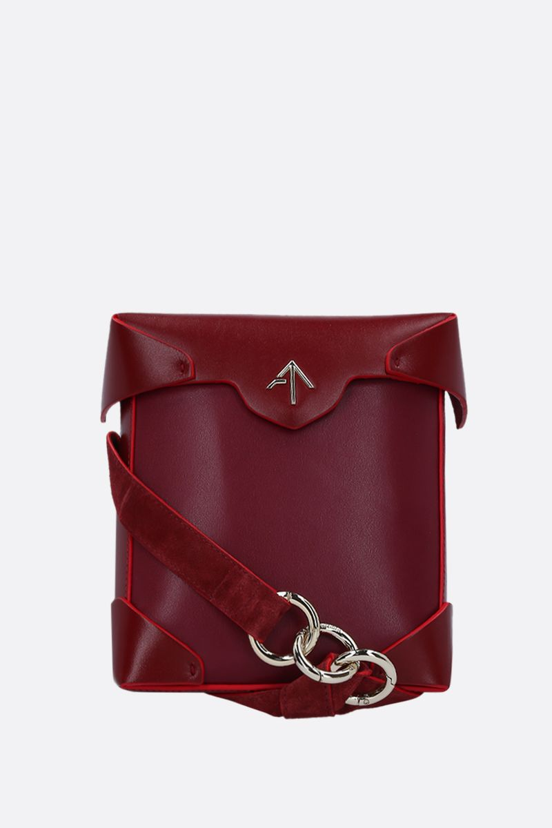 MANU ATELIER: Pristine Mini crossbody bag in smooth leather Color Red_1